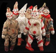 'Serious Toyz' - RARE Schoenhut Humpty Dumpty Circus Exhibit, is on view at Coney Island USA's Shooting Gallery/Arts Annex this month. Victorian Dollhouse, Modern Dollhouse, Vintage Circus, Vintage Toys, Vintage Stuff, Retro Vintage, Circus Crafts, Punch And Judy, Creepy Clown