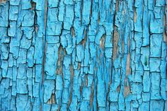 blue chipped paint