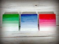 Pudełka Ombre - kolejny post hand made! Decoupage, Handmade, Painting, Art, Art Background, Hand Made, Painting Art, Kunst, Paintings