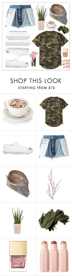 """""""Denim Shorts"""" by cherieaustin on Polyvore featuring Hollister Co., Miu Miu, Unravel, Anya Hindmarch, Pier 1 Imports, PLANT and Bobbi Brown Cosmetics"""