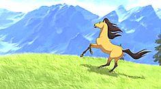 Spirit: Stallion of the Cimarron Spirit The Horse, Spirit And Rain, Dreamworks Animation, Disney And Dreamworks, Mustang, Gifs, Spirited Art, Horse Drawings, Horse Pictures