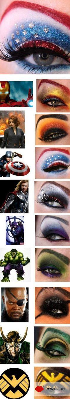 Super Heroes Make up!