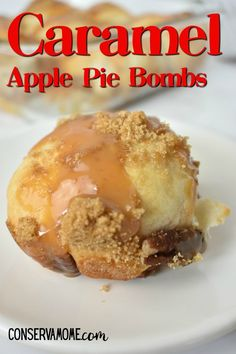 These caramel apple pie bombs with pecans are the most delicious and easy recipe around. This 5 Ingredient Breakfast recipe can be eaten any time of the day for a delicious, ooey gooey treat the whole family will love.  One bite and delicious caramel apple goodness will fill your mouth with deliciousness.  #caramelapple #5ingredientrecipe #Applepiebomb Pecan Recipes, Fall Recipes, Sweet Recipes, Apple Recipes, Apple Desserts, Delicious Desserts, Fall Desserts, Vegetarian Desserts, Layered Desserts
