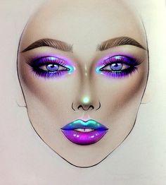 80s Makeup, Beauty Makeup, Face Makeup, Drugstore Beauty, Makeup Inspo, Makeup Inspiration, Makeup Ideas, Mac Face Charts, Arabic Makeup