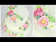Buttercream Flower Wedding Cake Tutorial - CAKE STYLE - YouTube : I want this to be my wedding cake soooo bad!