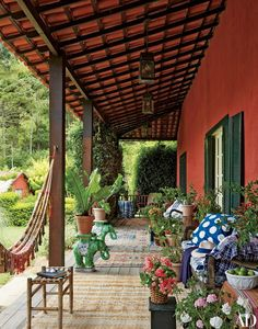This Is Happening: South American Splendor Outdoor Rooms, Outdoor Gardens, Outdoor Living, Outdoor Decor, American Splendor, Deco Boheme Chic, Hacienda Style Homes, Cool House Designs, Spanish Style