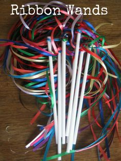 Ribbon Wand - perfect for flower girls http://www.boho-weddings.com/2012/11/13/diy-tutorial-rainbow-ribbon-wands/#