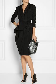 Oscar de la Renta|Wool wrap suit dress|NET-A-PORTER.COM