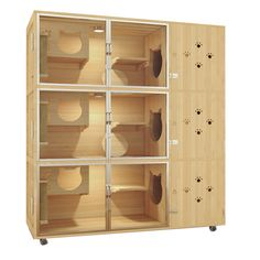 Cat Apartment, Pet Store Display, Wooden Cat House, Cat Cages, Cat Gym, Cat Kennel, Cat Hotel, Animal Gato, Cat Bedroom