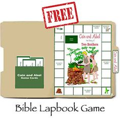 Free Bible Lapbook Game! Cain and Abel!
