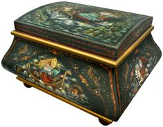 Legends of the Santa Claus by Jo Sonja. A seminar piece painted on a Bombay box.