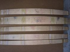 5 staves from a 2010 california wine barrel by WineyGuys on Etsy