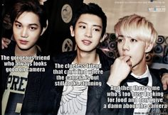 "EXO Kai, Chanyeol, Sehun ~ ""There's this kind of photo at every party"" (Sehun understands me)"