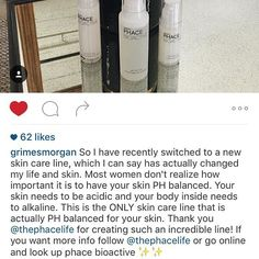 We really appreciate feedback from our loyal customers. Thank you @grimesmorgan for taking the time to write such a beautiful review of the PHACE BIOACTIVE line. Nothing makes me happy like a happy customer.  #thephacelife #ph #phbalance #clearskin #healthyskin #beauty #happycustomers #gratitude #happiness #skincare