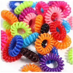 200pcsWomen Hairband Girl Headband Telephone Cord Elastic Ponytail Holders Hair Ring Scrunchies For Girl Rubber Band Tie