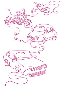 Tim Bradford illustration (Continuous Line Drawing)