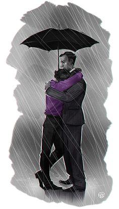 I see this being after the fall, and Sherlock is heart broken about how John feels. Then Mycroft consoles him just like he did when Sherlock would get bullied in school. Fan Art Sherlock, Mycroft Holmes, Sherlock Fandom, Benedict Cumberbatch Sherlock, Sherlock Quotes, Sherlock John, Sherlock Tattoo, Sherlock Drawing, Funny Sherlock