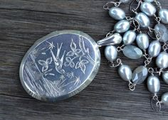 Exquisite Large Antique Sterling Silver Victorian by AudreySparrow, $305.00
