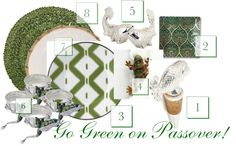 Get Green for a Fresh and Sophisticated Spring #Passover #Seder!