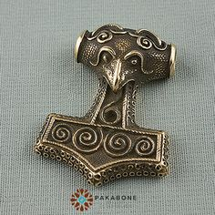 Thor's Hammer Mjollnir Mjolnir Mjölnir Viking Scandinavian Pendant Solid Bronze #559