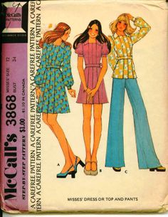 1970's Vintage Sewing Pattern  McCall's 3868  by shellmakeyouflip, $10.00