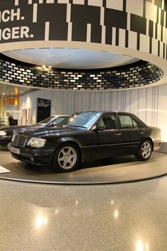 Mercedes 500E! Youngtimer Exhibition in our Mercedes-Benz Museum in Stuttgart. Photo by @jensstratmann Its inconspicuous appearance was the E 500´s trump card. Some owners enjoyed the power reserve of the modestly clad car without traveling at high speed at all times. Other welcomed the car´s superior handling at high speeds - and derived great gratifications from outpacing many a sports car. Some facts? 8 Cylinders, 303 cu in Displacement, 235 kW Output, 155 mph Top speed! #Classic #Car…