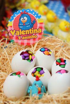 Festa Infantil Galinha Pintadinha - Ovinhos recheados http://www.suelicoelho.com.br/2014/06/mais-uma-vez-galinha-pintadinha.html
