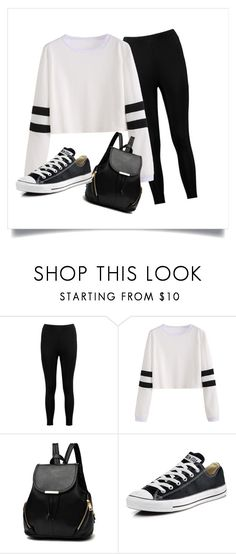 """Everyday style"" by arianalakioti on Polyvore featuring Boohoo and Converse"