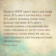 Paleo Lifestyle Change: I love this explanation! Many people just think Atkins when you try to explain it, but it's WAY different!