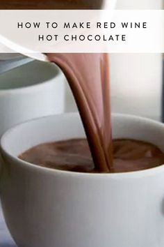 This is how you make red wine hot chocolate, our new favorite fall and winter warm beverage.