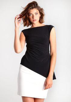 Robe fourreau - pearl/black. Black NoirClientServiceRalph LaurenEvening ...