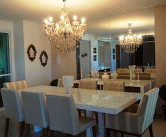 decoração clássica sala de jantar