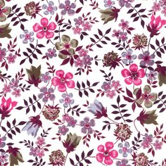 Liberty Fabric Edenham L Purple