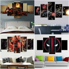 Limited Edition Deadpool Canvases Deadpool Gifts, Canvases, Graffiti, Gallery Wall, Room, Prints, House, Ideas, Home Decor