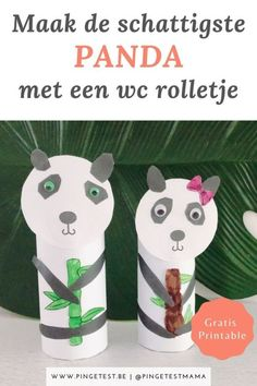 Panda knutselen met wc rol Drink Sleeves, Kids Crafts, Drinks, Stress, Money, Drinking, Beverages, Drink, Psychological Stress
