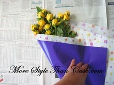 The 74 best gift wrapping flowers images on pinterest flower wrapping flowers how to wrap a bouquet of flowers flowers wrapping mightylinksfo