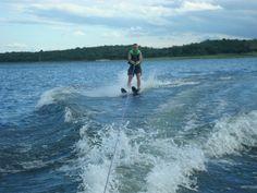 Esquiando en el Lago