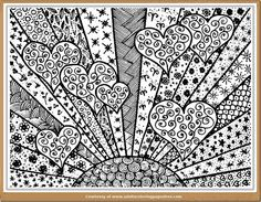 love is shining adults coloring pages
