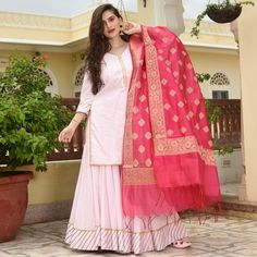 Pink Suit, Sharara, Salwar Suits, Cotton Dresses, Nightwear, Black And Grey, Fashion Dresses, Just For You, Sari