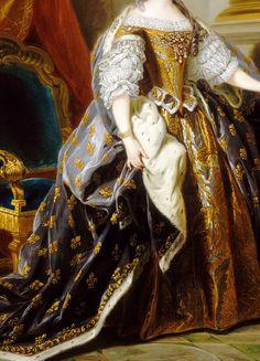 INCREDIBLE DRESSES IN ART (116/∞) Maria Leszczynska by Jean-Baptiste van Loo