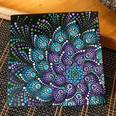 Getting ready for this weekend's Farmers Market. Dot Art Painting, Mandala Painting, Pebble Painting, Stone Painting, Pottery Painting, Mandala Canvas, Mandala Dots, Mandala Design, Canvas Art Projects
