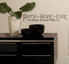 Faith, Hope & Love Peel & Stick Quotable Wall Decal at AllPosters.com