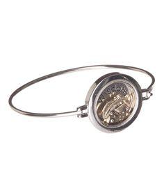 Look at this #zulilyfind! Antique Silver 'Wisdom' Owl Bracelet by LCO Jewelry #zulilyfinds
