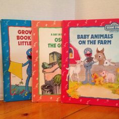 SESAME+STREET+Set+of+3+Books++Baby+Animals+on+the+by+CellarDeals