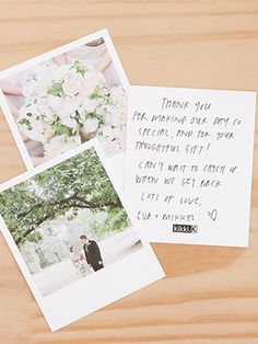Discover 3 ways to use Instagram / Polaroid photos in your wedding - from table settings to thank you cards - these are beautiful DIY styling ideas