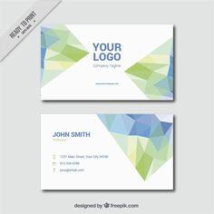 Fantastic business card with decorative polygons #Free #Vector  #Logo #Business #card #Business #Card #Template #Geometric #Office #Visitingcard #Polygon #Presentation #Stationery #Corporate #Company #Corporateidentity #Branding #Modern #Polygonal #Visitcard #Decorative #Identity