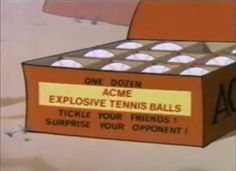 "Box of ""ACME EXPLOSIVE TENNIS BALLS"" (screencap) - Acme Corporation - Wikipedia, the free encyclopedia"