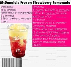 McDonald's Restaurant Copycat Recipes: Frozen Strawberry ...