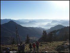 Beim Wandern im Chiemgau: Blick von der Hochries