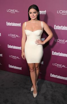Ariel Winter Form-Fitting Dress - Ariel Winter sent pulses racing at the Entertainment Weekly pre-Emmy party with this slinky ivory latex dress by House of CB.